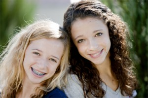 Girl with Braces and her Friend